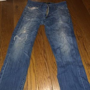 Lucky brand jeans. Holed jeans-original straight